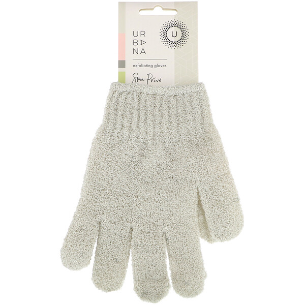 European Soaps, Urbana, Spa Prive, Exfoliating Gloves, 1 Pair