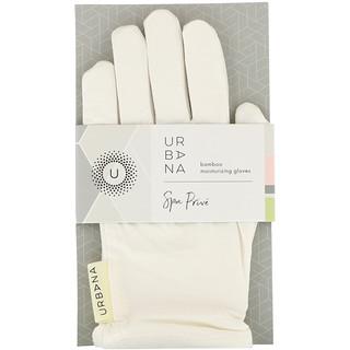 European Soaps, LLC, Urbana, Spa Prive, Bamboo Moisturizing Gloves, 1 Pair