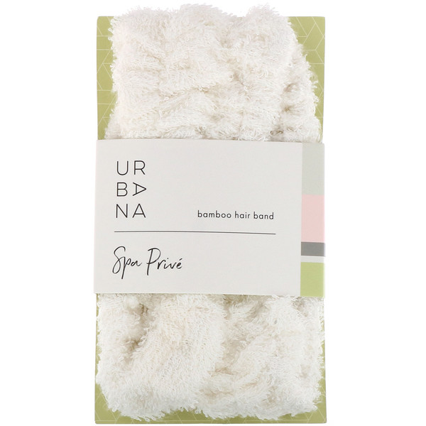 European Soaps, Urbana, Spa Prive, Bamboo Hair Band, 1 Hair Band