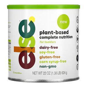 Else, Toddler, Plant Based Complete Nutrition, 12+ Months, 22 oz (624 g)