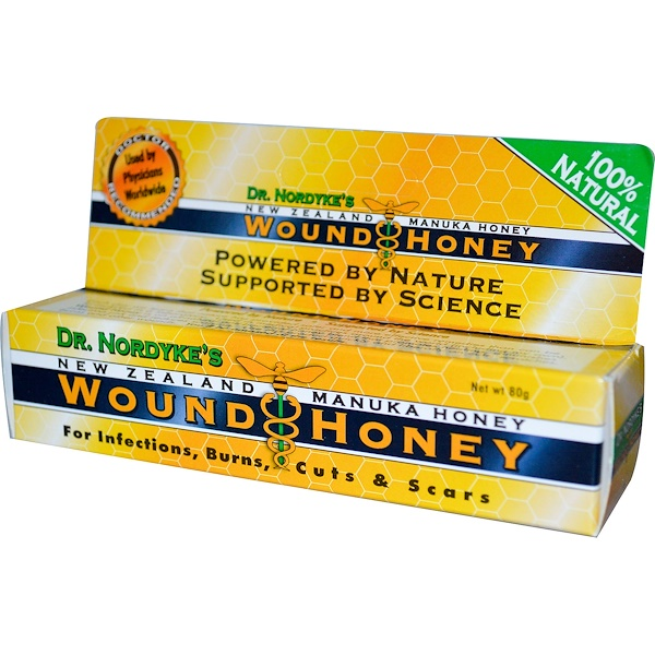 Eras Natural Sciences, Новозеландский мед мануки доктора Нордика, мед для ран, 80 г (Discontinued Item)
