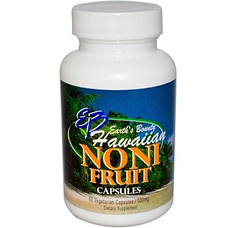 Earth's Bounty, Fruta noni, hawaiana, 500 mg, 60 cápsulas vegetarianas