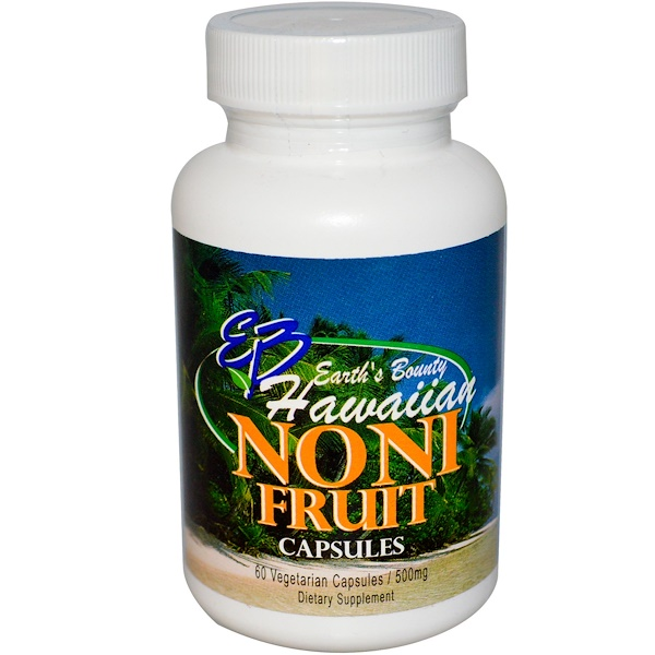 Earth's Bounty, Noni Fruit, Hawaiian, 500 mg, 60 Veggie Caps