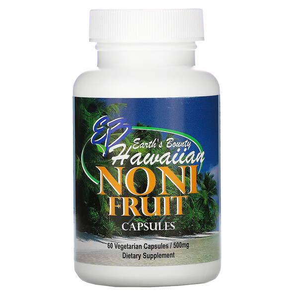 Earth's Bounty, Noni Fruit, Hawaiian, 500 mg, 60 Vegetarian Capsules