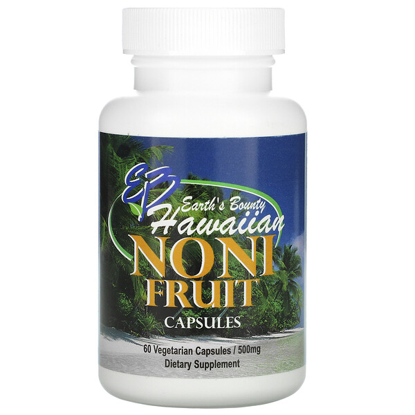 Noni Fruit, Hawaiian, 500 mg, 60 Vegetarian Capsules