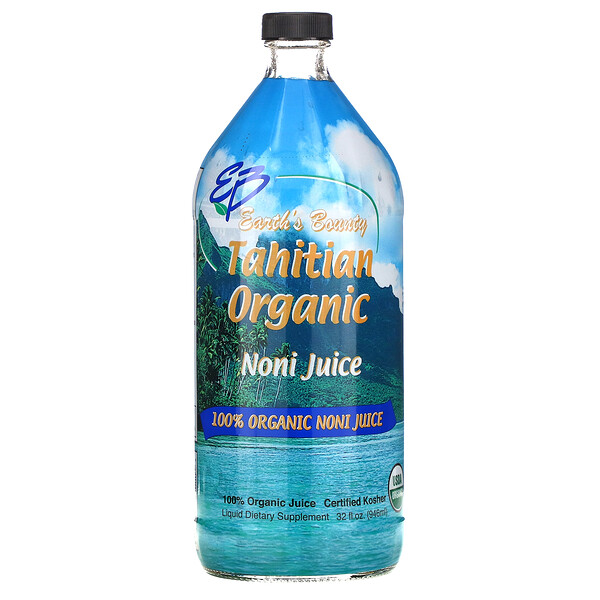 Earth's Bounty, Tahitian Organic Noni Juice, 32 fl oz (946 ml)