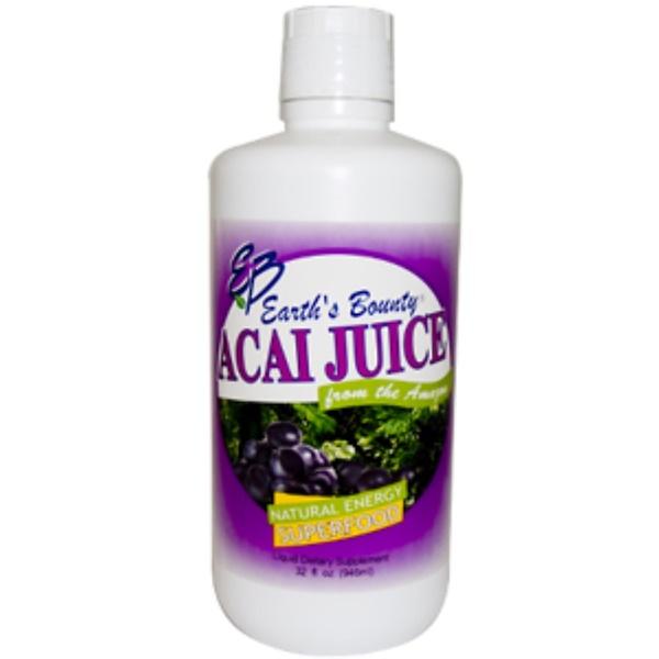 Earth's Bounty, Açai Juice, 33 fl oz (946 ml) (Discontinued Item)