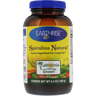 Earthrise, Spirulina Natural Powder, 6.4 oz (180 g)