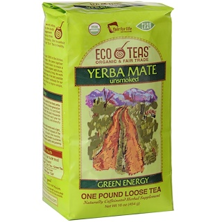 Eco Teas, Yerba Mate Pure Leaf Loose Tea, Green Energy, Unsmoked, 16 oz (454 g)