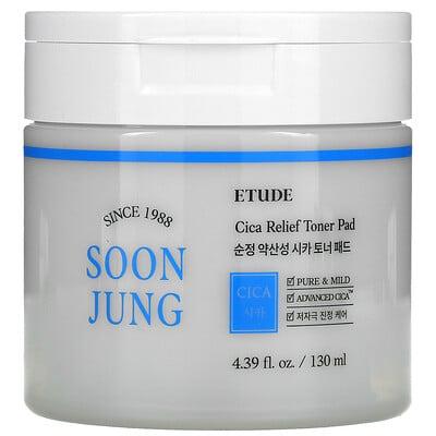 Etude Soon Jung, Cica Releif Toner Pad, 4.39 fl oz (130 ml)