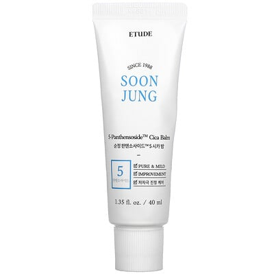 Etude House Soon Jung, 5 Panthensoside Cica Balm, 1.35 fl oz (40 ml)
