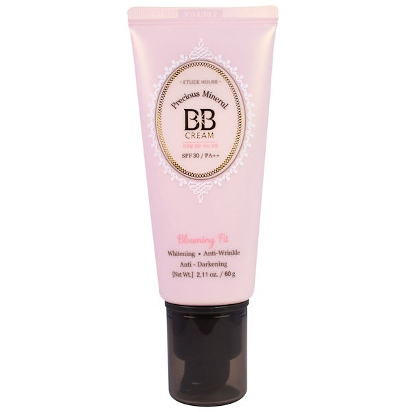 Etude House, Precious Mineral BB  Cream Blooming Fit, Light Beige NO2, 2.11 oz (60 g) (Discontinued Item)