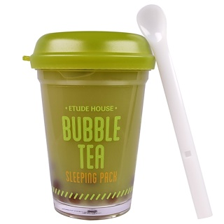 Etude House, バブルティースリーピングパック, グリーンティー味, 3.5オンス (100 g)