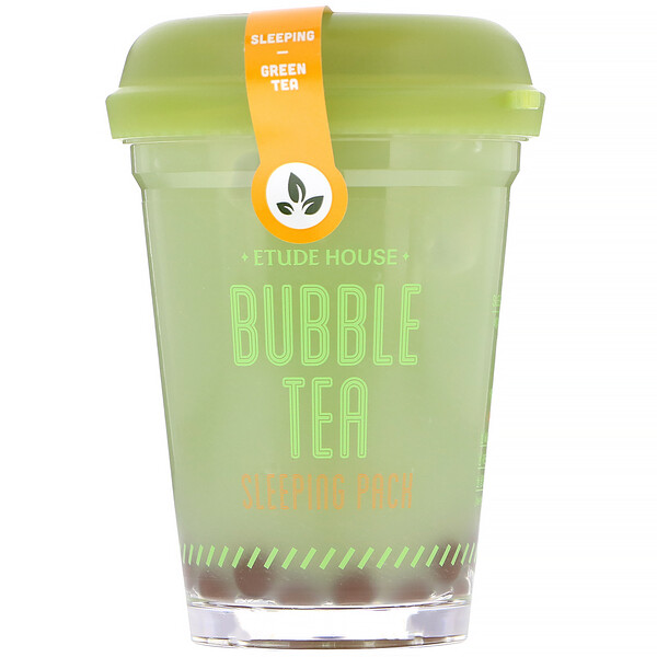 Etude House, Bubble Tea Sleeping Pack, Green Tea, 3.5 oz (100 g) (Discontinued Item)