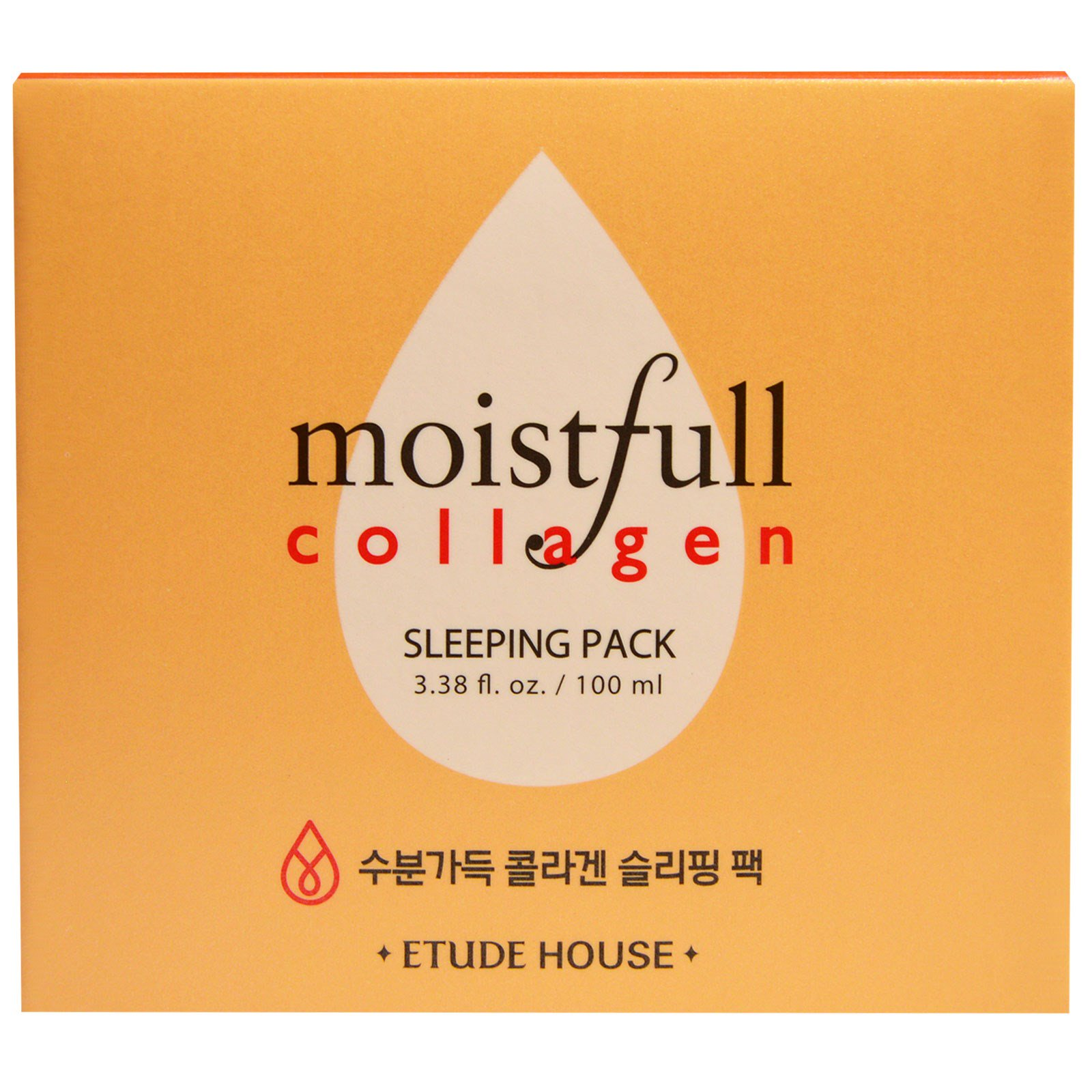 Etude House, Moistfull Collagen Sleeping Pack, 3.38 fl oz (100 ml). By Etude House