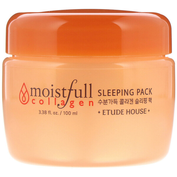 Etude House, Moistfull Collagen Sleeping Pack, 3.38 fl oz (100 ml) (Discontinued Item)