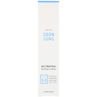 Etude House, Soon Jung, pH 5.5 Relief Toner, 6.08 fl oz (180 ml)