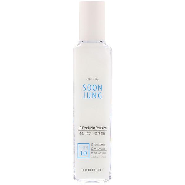 Etude House, Soon Jung, 10-Free Moist Emulsion, 4.05 fl oz (120ml)