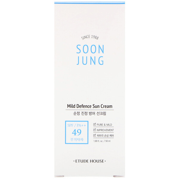 Etude House, Soon Jung, Mild Defense Sun Cream, 1.69 fl oz (50 ml)