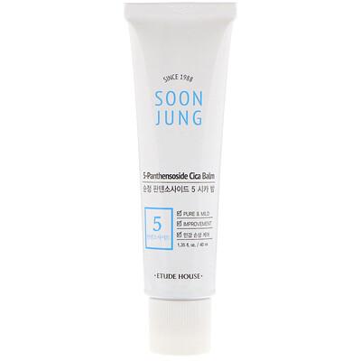 Etude House Soon Jung, 5-Panthensoside Cica Balm, 1.35 fl oz (40 ml)