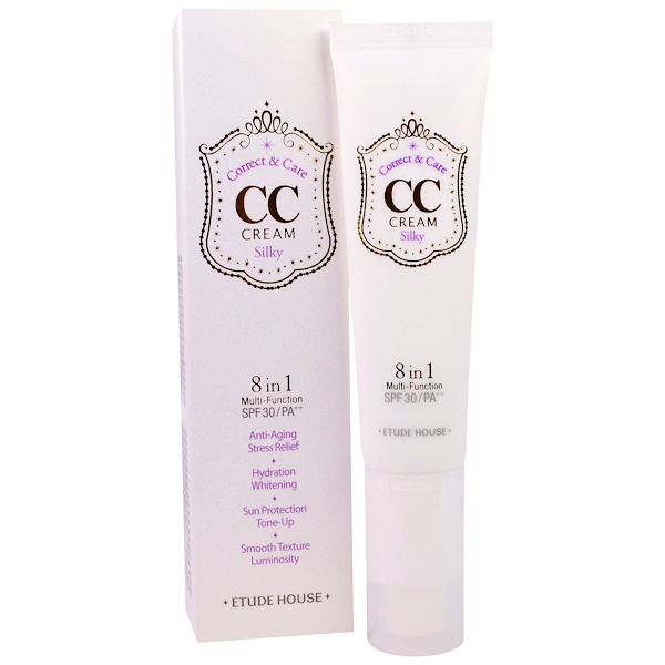 Etude House, Correct & Care CC Cream SPF 30/PA++, Silky, 1.23 oz (35 g) (Discontinued Item)