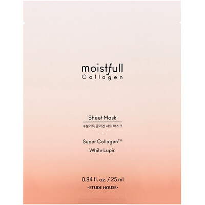 Купить Etude House Moistfull Collagen, Sheet Mask, 1 Sheet, 0.84 fl oz (25 ml)