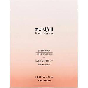 Этюд Хаус, Moistfull Collagen, Sheet Mask, 1 Sheet, 0.84 fl oz (25 ml) отзывы покупателей