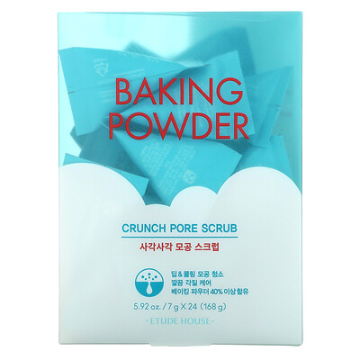 Etude Baking Powder, Crunch Pore Scrub, 24 Pouches, 7 g Each