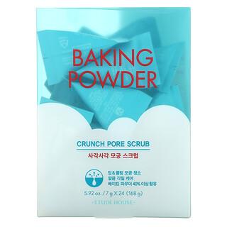 Etude, Baking Powder, Crunch Pore Scrub, 24 Pouches, 7 g Each