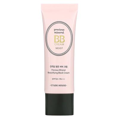 Купить Etude House Precious Mineral BB Cream Moist, SPF50+/PA+++, Cream Vanilla, 1.58 oz (45 g)