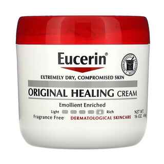 Eucerin, Crema reparadora original, Para pieles extremadamente secas y dañadas, Sin fragancia, 454g (16oz)