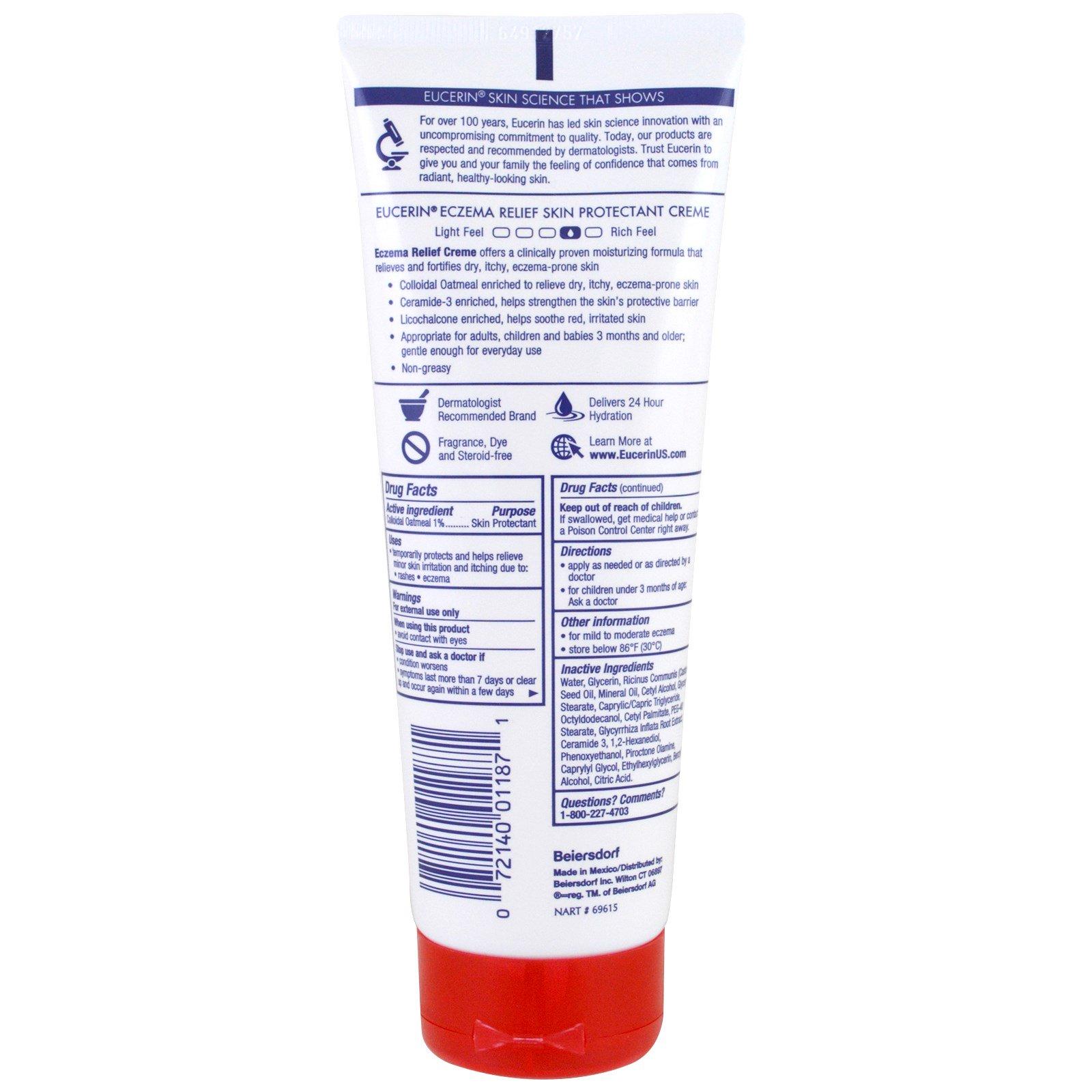 Eucerin, Eczema Relief Body Cream, Eczema-Prone Skin