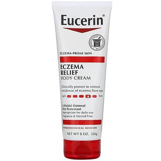 Eucerin, Crema corporal para aliviar eczemas, piel propensa a eczemas, sin fragancia, 8,0 oz (226 g)