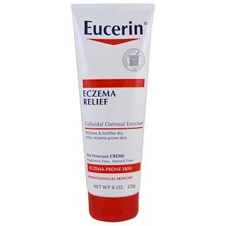 Eucerin, Eczema Relief Body Cream, Eczema-Prone Skin, Fragrance Free, 8.0 oz (226 g)