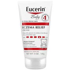 Eucerin, 嬰兒,濕疹緩解霜,5 盎司(141 克)