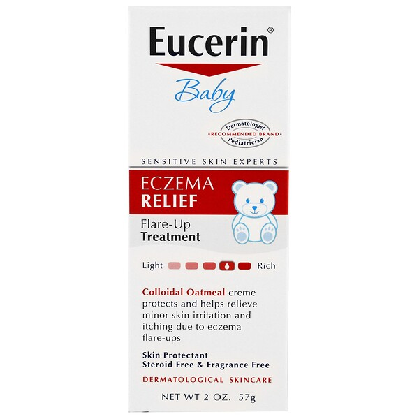 Eucerin, Baby, Eczema Relief, Flare Up Treatment, Fragrance Free, 2 oz (57 g)