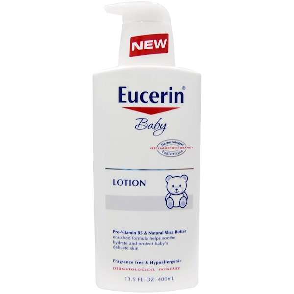 Eucerin, Baby, Lotion, Fragrance Free, 13.5 fl oz (400 ml)