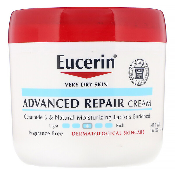 Advanced Repair Cream, Fragrance Free, 16 oz (454 g)