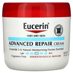 Юцерин, Advanced Repair Cream, Fragrance Free, 16 oz (454 g) отзывы