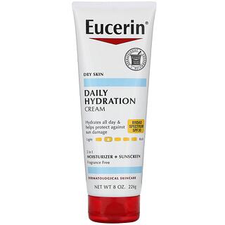 Eucerin, Daily Hydration Cream, SPF 30, Fragrance Free  , 8 oz (226 g)