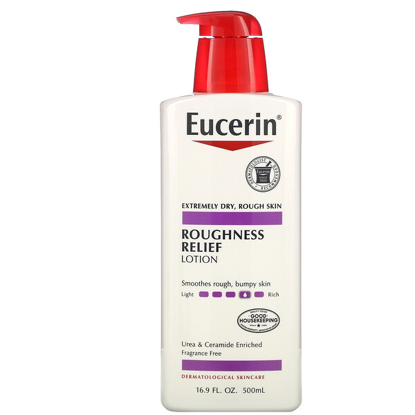 Eucerin, Roughness Relief Lotion, Fragrance Free, 16.9 fl oz (500 ml)