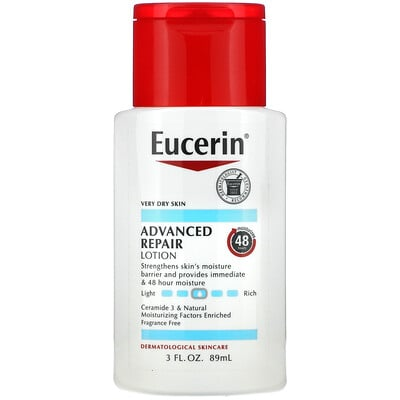 Eucerin Advanced Repair Lotion, Fragrance Free, 3 fl oz (89 ml)
