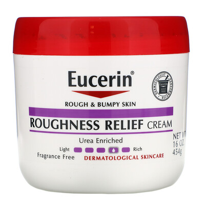 Eucerin Roughness Relief Cream, Fragrance Free, 16 oz (454 g)