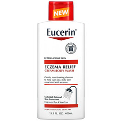 Eucerin, 濕疹舒緩沐浴露,13.5 液量盎司(400 毫升)