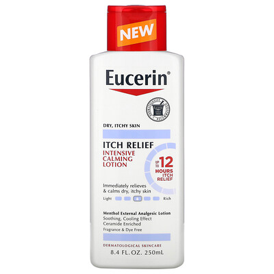 Eucerin Itch Relief, Intensive Calming Lotion, 8.4 fl oz (250 ml)