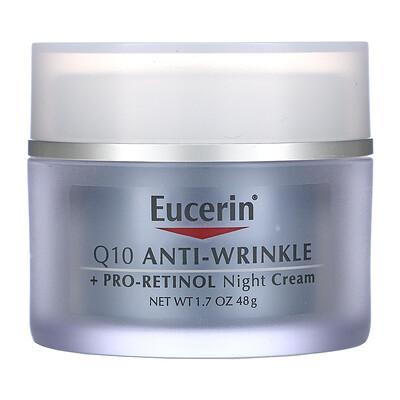 Eucerin Q10 Anti-Wrinkle + Pro-Retinol Night Cream , 1.7 fl oz (48 g)