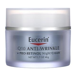 Eucerin, Q10 Anti-Wrinkle + Pro-Retinol Night Cream, 1.7 fl oz (48 g)