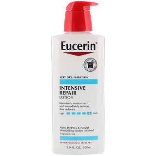 Eucerin, Intensive Repair Lotion, Fragrance Free, 16.9 fl oz (500 ml)