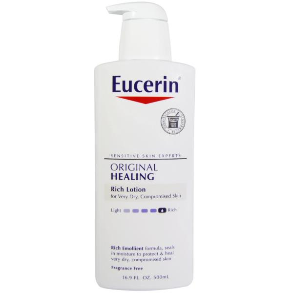 Eucerin, Original Healing, Soothing Repair Lotion, Fragrance Free, 16.9 fl oz (500 ml)
