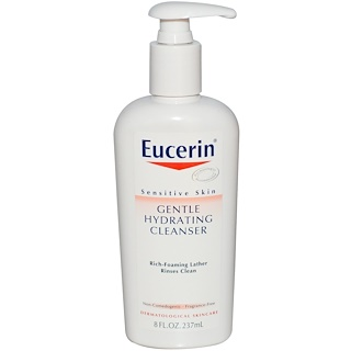 Eucerin, Gentle Hydrating Cleanser, Fragrance Free, 8 fl oz (237 ml)